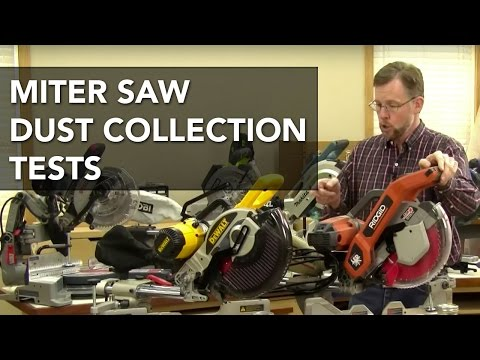 Miter Saw Dust Collection Test