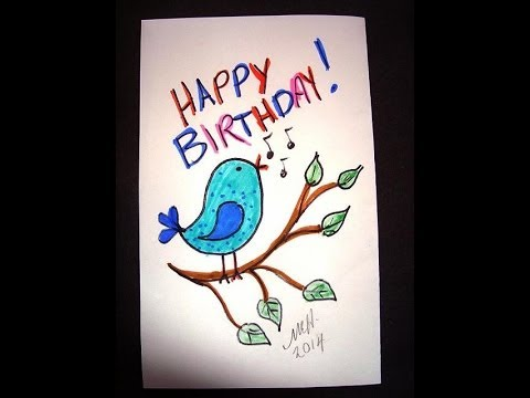 Draw A Tweety Bird, Kids Drawing Lesson, Simple Kids Crafts, video