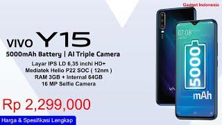 Cuma Rp 2,299 Juta ! Vivo Y15 Indonesia , Baterai 5000 mAh, AI Triple Camera