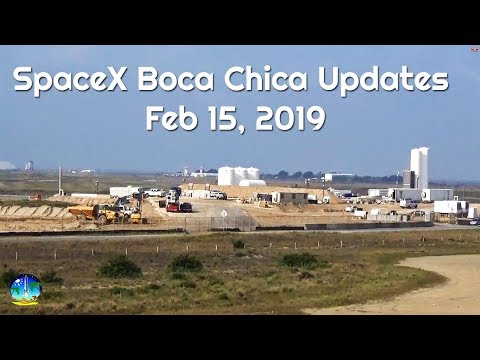 SpaceX Boca Chica Starhopper and Launch Pad - February 15 2019