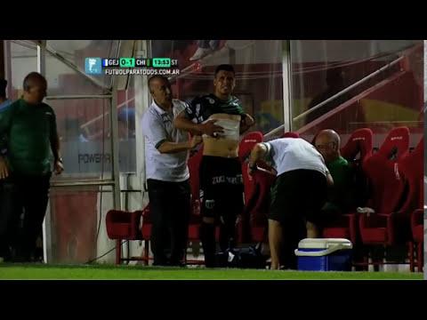 El esfuerzo de Gomito. Gimnasia- Chicago.Triangular.Primera B Nacional 2014.Fútbol Para Todos