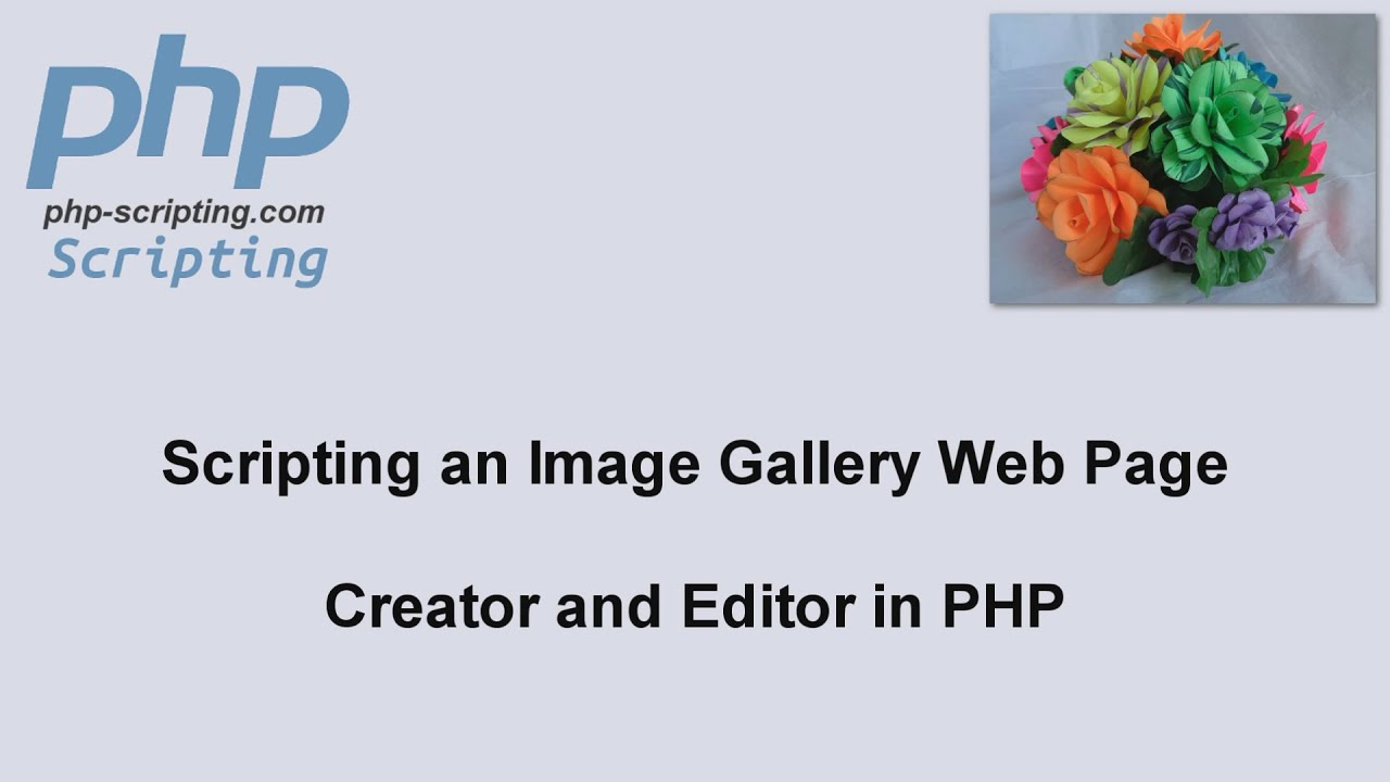Script galerie photo php Cached