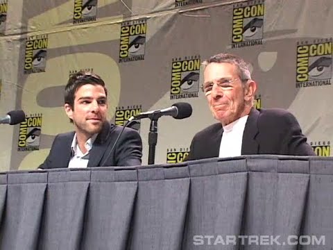 Zachary Quinto, Leonard Nimoy Cast Announcement (Star Trek '09)