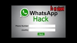 HOW TO HACK WHATSAPP ACCOUNT 2017 NEW TRICK || EASY WAY TO HACK BY ONLY PHONE NO.