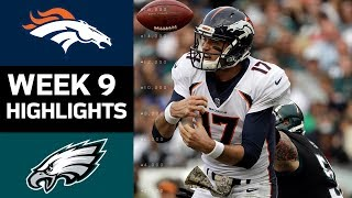 Broncos vs. Eagles | NFL Week 9 Game Highlights