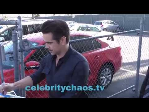 Actor Colin Farrell makes fans happy outside Jimmy Kimmel live