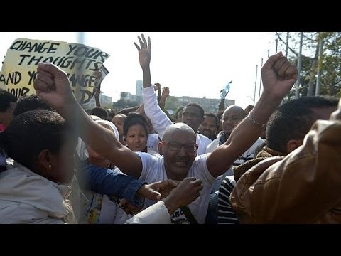 African migrants march for refugee status in Israel