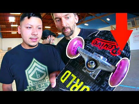 ROLLER HOCKEY WHEELS ON A SKATEBOARD! | YOU MAKE IT WE SKATE IT EP 141