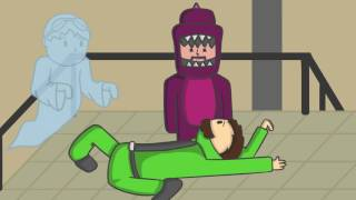 GIVE HIM CPR!!! | Gang Beasts Animated w/ DanTDM, ThnxCya