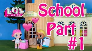 💖✏️LOL Surprise Dolls at School in Love Part 1 Stop Motion video❤️🏫💖