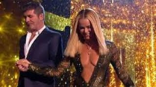 Amanda Holden flaunts cleavage in a plunging gown for BGT