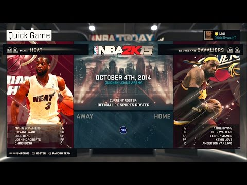 PS4 NBA 2K15 HD Gameplay!: Cleveland Cavaliers vs. Miami Heat!