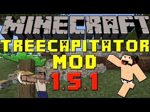 Minecraft Mods: Como Instalar y Descargar Treecapitator para Minecraft 1.5.1 y 1.5.2