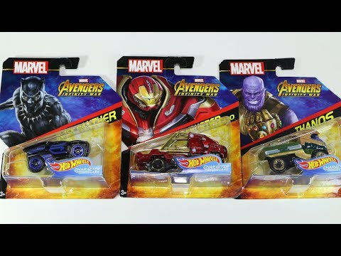 Marvel Avengers Black Panther Hulkbuster Thanos Hot Wheels Character Cars