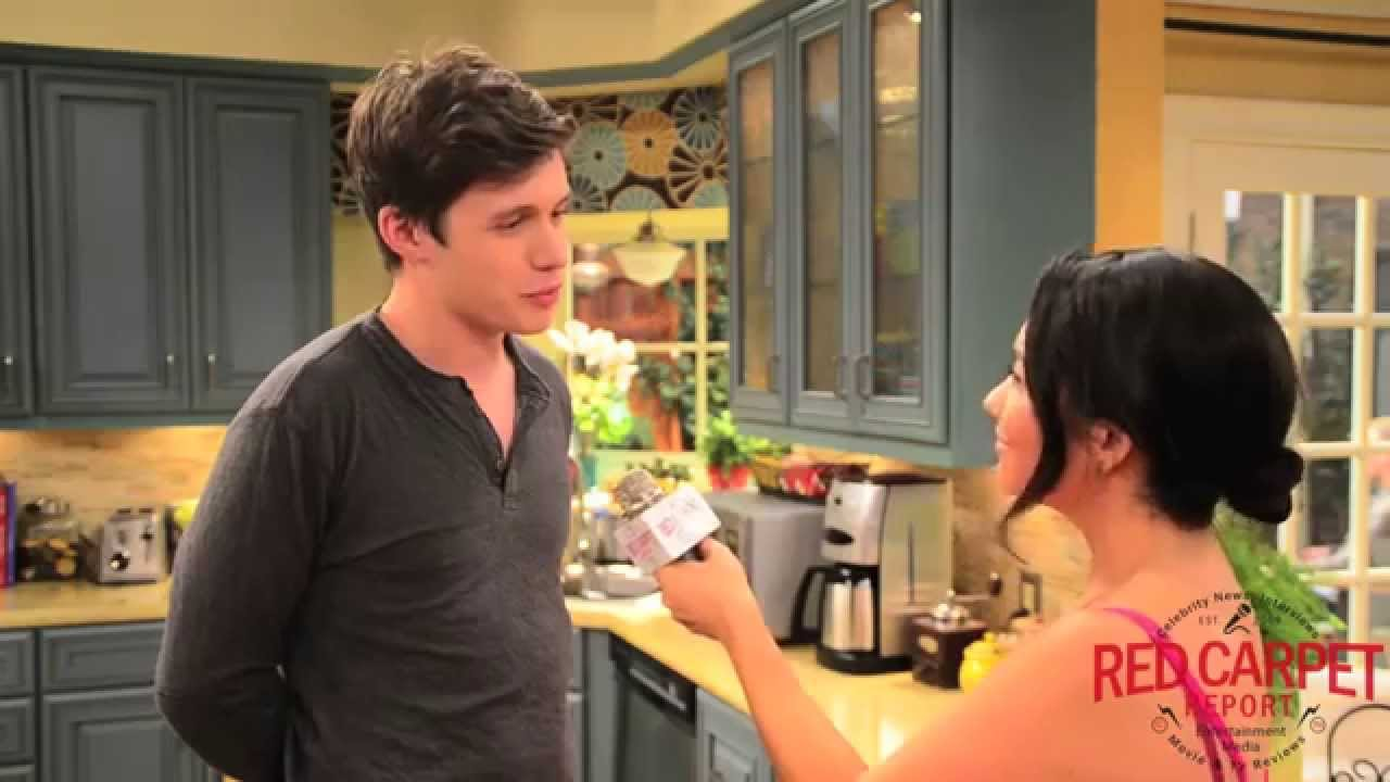 Nick Robinson on set w...