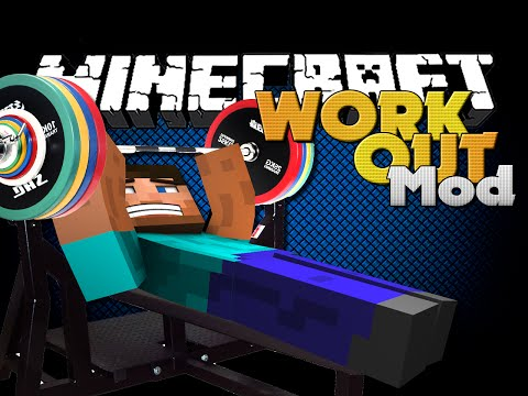 Minecraft Mod - WORKING OUT MOD - FITNESS IN MINECRAFT!!