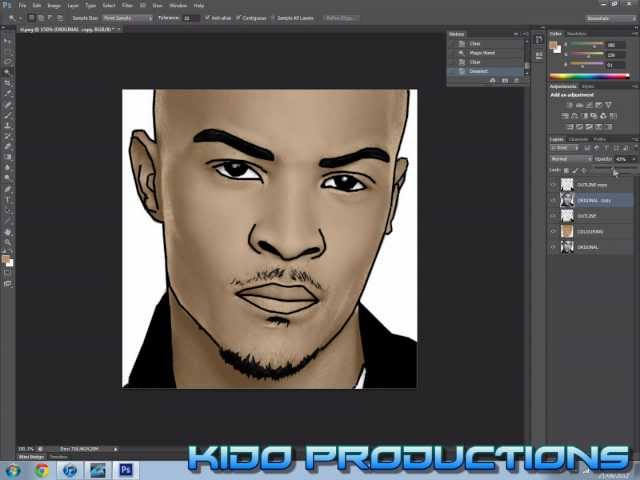 Make a Cartoon of Yourself in Photoshop CS6 (Part2)