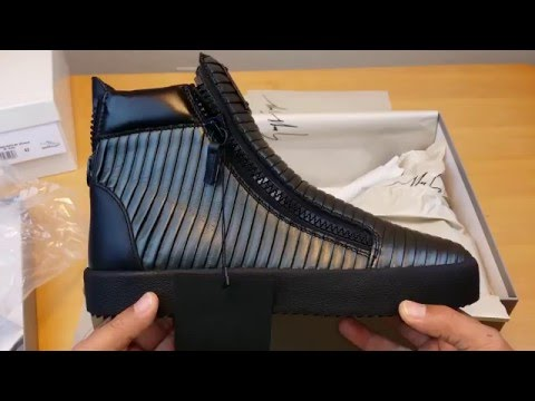 JORDAN BRAND GAME OVER! Unboxing Giuseppe Zanotti Anthracite Ribbed Azuki High-Tops Sneakers