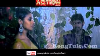 Bhijbo Re Bhijbo |  Full Video Song |  Action Bengali Movie 2014 |  Om, Barkha Bhist