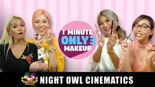 1 Minute Challenge: 3 Makeup Products ONLY!