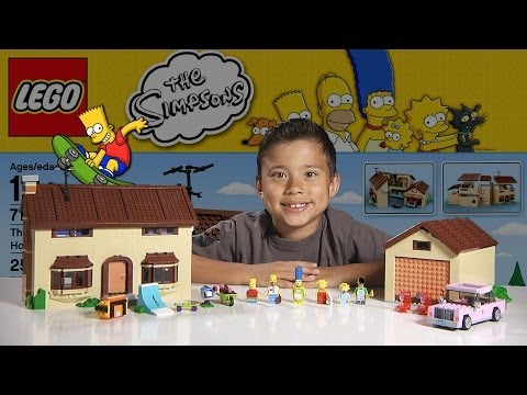 The SIMPSONS HOUSE - LEGO Simpsons Set 71006  - Time-lapse Build. Unboxing & Review!