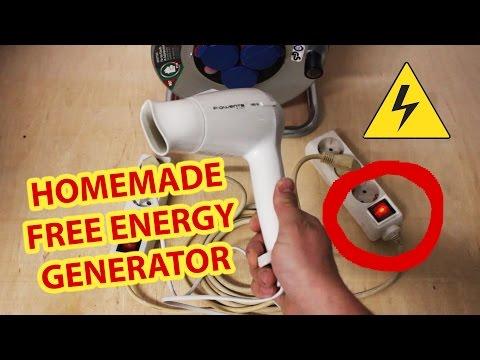 Free Energy Generator Homemade 220v
