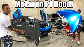 INSTALLING MY NEW CARBON FIBER HOOD ON MY MCLAREN! *GAME CHANGER*
