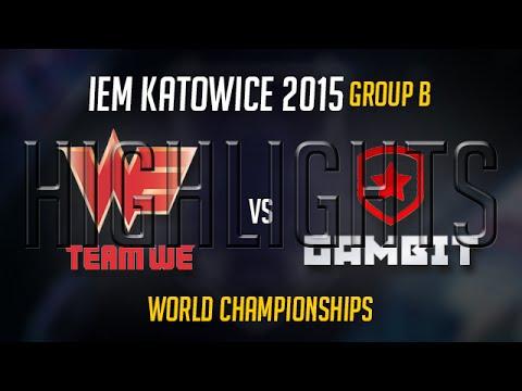 Team WE vs Gambit Gaming Highlights -  IEM World Championship S5 2015 - WE vs GMB