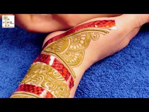 सेलो टेप से मेहँदी लगायें | Easy Floral Mehndi Design For Hands by Sonia Goyal #036