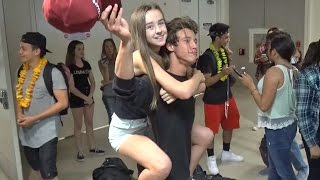 Vine Stars Nash Grier And Cameron Dallas Have Fun With Fans At LAX