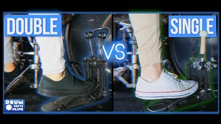 Double Bass Pedal VS Single Bass Pedal (Which Is Better?) - Drum Beats Online