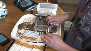 HOW TO TOP O MATIC 1 YEAR UPDATE, T2 cigarette machine, one pack demonstration, and cost.