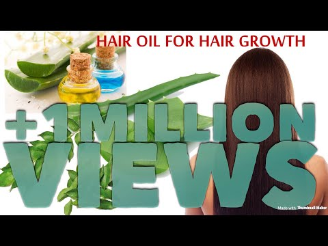 Natural Hair Oil Recipe for Hair growth.Damaged hair and Dandruff treatment