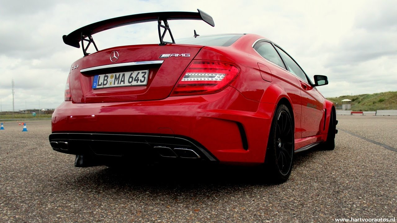 Mercedes Benz C63 Amg Black Series In Action Lovely