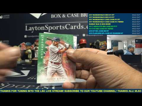 2017 Topps Inception Baseball 3 Box Break for Chris B