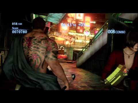 RESIDENT EVIL 6 (MERCENARIES) - Chris Redfield [Samurai Costume] - Urban Chaos [S Rank]