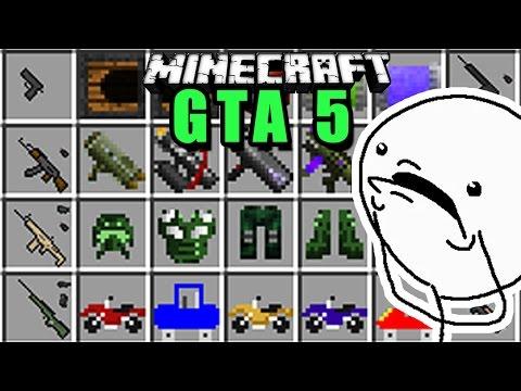 COMO Jugar GTA 5 en MINECRAFT !! Rabahrex MOD Review