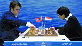 Tata Steel Chess 2011 -  Magnus Carlsen vs Anish Giri
