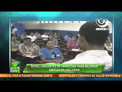 Docentes de Estelí se capacitan para mejorar la educación inclusiva
