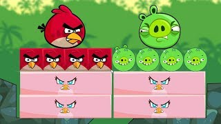 Angry Birds Kick Piggies - BOTH RED AND STELLA KICK OUT BAD PIGS!