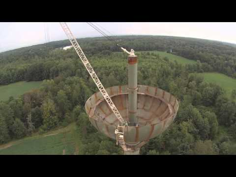 DJI Phantom  FPV with GoPro H3  Viewing Water Tower Being Built