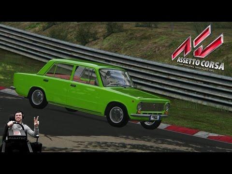 Сончик наваливает на копье на Nordschleife Nürburgring - Assetto Corsa на руле Fanatec CSL Elite