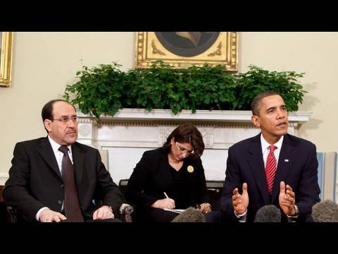 President Obama and Iraqi PM Nuri al-Maliki Address the Press