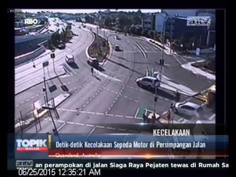 [ANTV] TOPIK KECELAKAAN Detik Kecelakaan Sepeda Motor Di Persimpangan