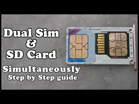 SIM+SIM+SD Card. Как правильно сделать!? Внимание!!! Бортик флешки не точить до конца!!!