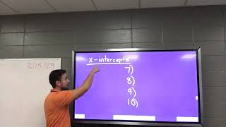 Algebra 1 Honors (Lesson 10-1B) Post-fire drill