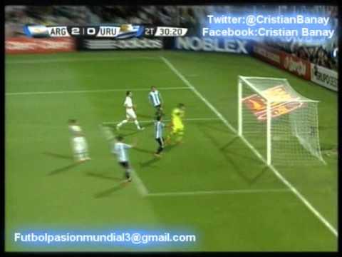 Argentina 3 Uruguay 0 (Relato Maximo Goñi ) Eliminatorias Brasil 2014 Los goles