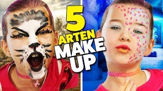 5 ARTEN MAKE-UP für Karneval 💄  Katze? Hase? Einhorn? Lulu & Leon - Family and Fun