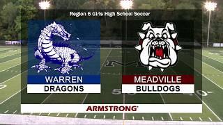 Warren vs Meadville-Girls High School Soccer