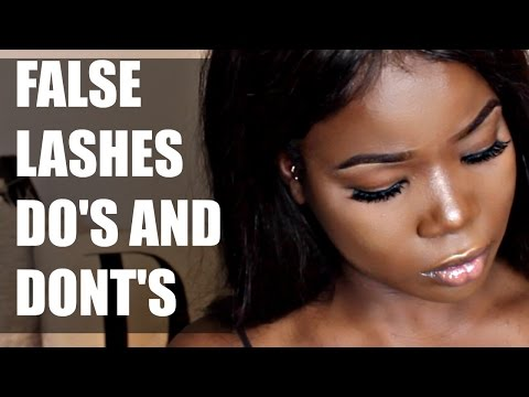 FALSE LASHES 5 DO'S AND DON'TS FOR BEGINNERS